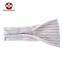 Aegismax האולטרה מעטפת שק שינה 850FP 95% אפור אווז למטה 290g קמפינג טיולים חיצוני שקי שינה חורף בגדים