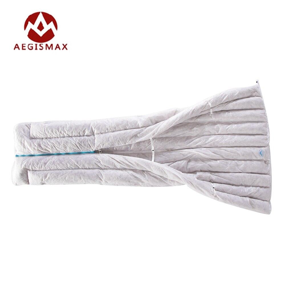Aegismax Ultra-Léger Enveloppe Sac de Couchage 850FP 95% Gris Duvet d'oie 290g Camping Randonnée En Plein Air Sacs de Couchage D'hiver Vêtements