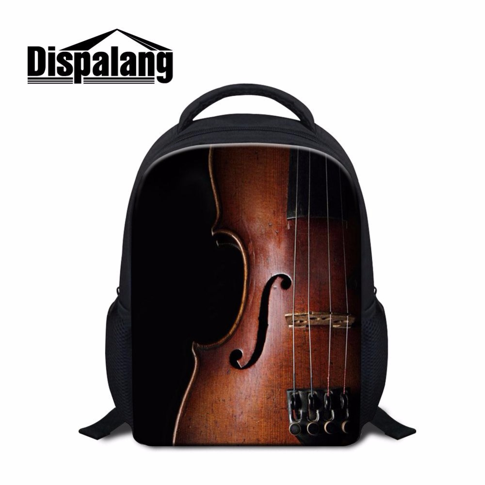 Dispalang 12 Inch Children School Bags Violin Back Pack For Kids Mini Backpack For School Kindergarten Bagpack Preschool Bag