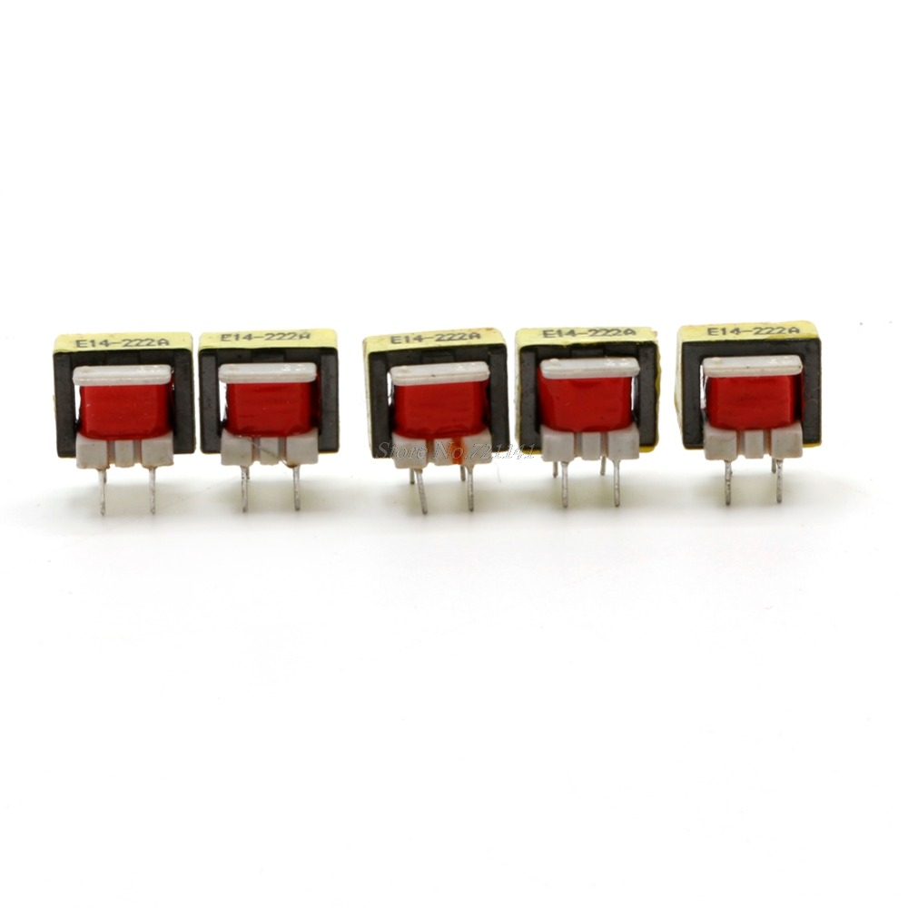 5Pcs 1300 : 8 Ohm Audio Transformer EE14 Transformateur POS Transformador Tool Dropship