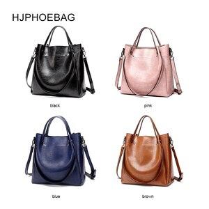 Image 3 - HJPHOEBAG المرأة حقيبة مصمم موضة بولي leather جلد كبير الحجم السيدات حقيبة ساعي جودة عالية سعة كبيرة حقيبة كتف YC023