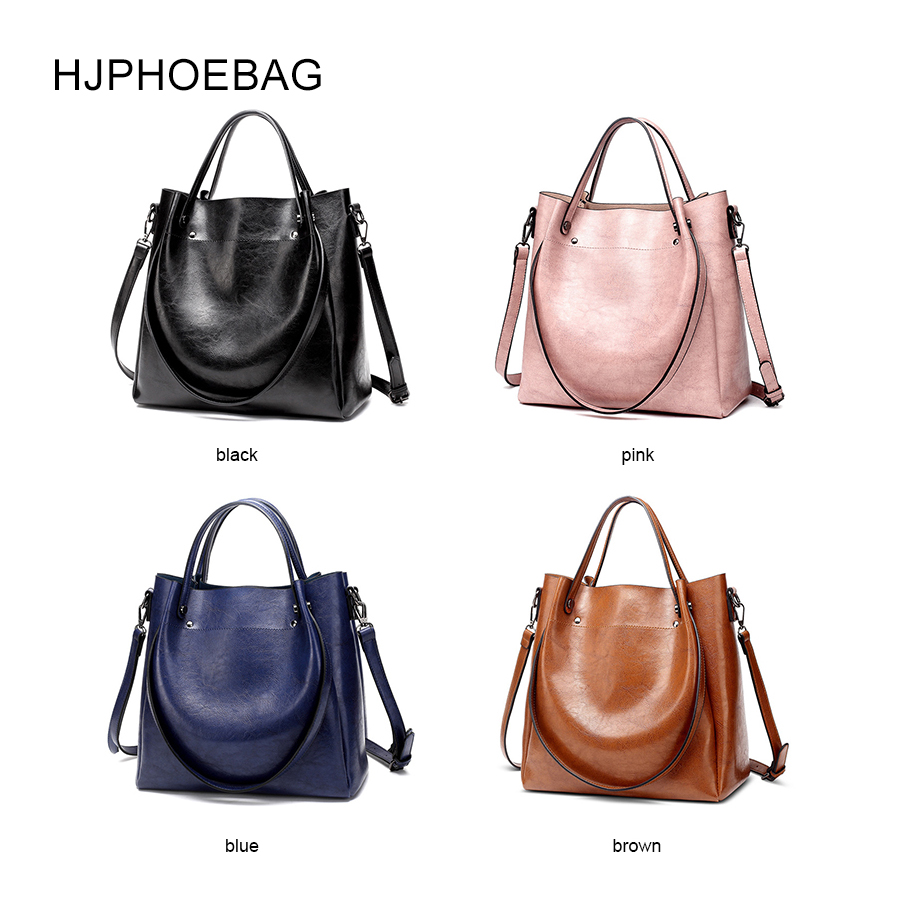 Image 3 - HJPHOEBAG women's bag designer fashion pu leather large size ladies Messenger bag high quality large capacity shoulder bag YC023-in Top-Handle Bags from Luggage & Bags