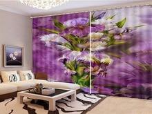 Wholesale Custom Curtain Dreamy Beautiful Flowers 3D Flower Curtains Like Sun Shade