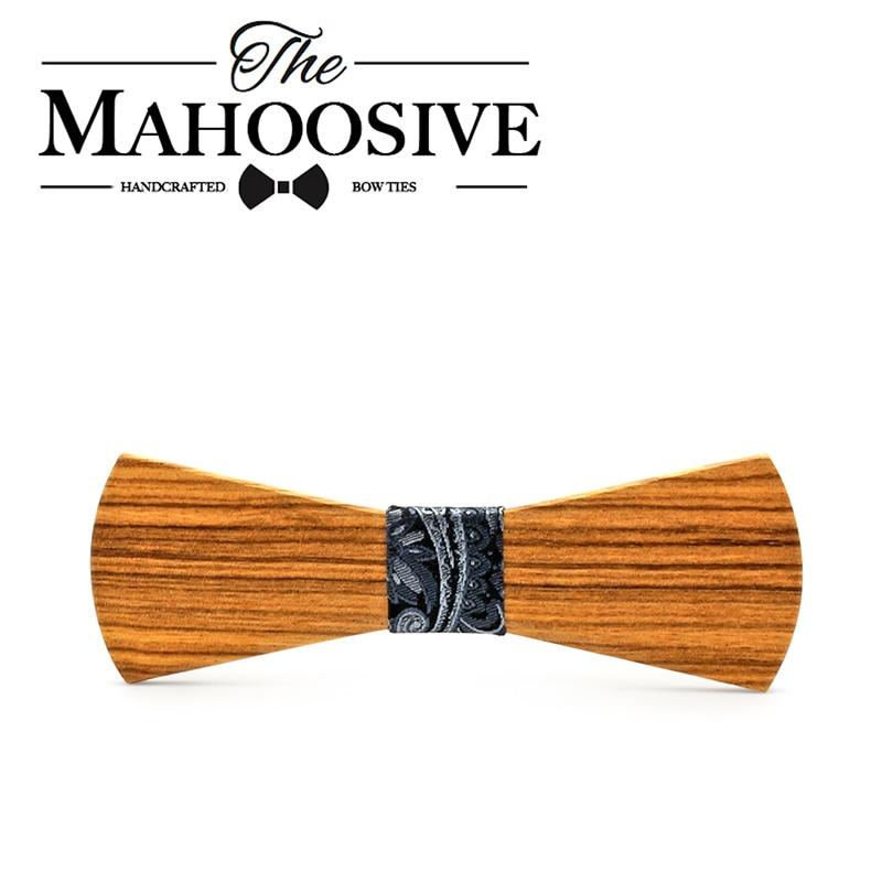 Mahoosive деревянный галстук-бабочка для мужчин s деревянный полый галстук подарок для мужчин бабочка Gravata Мужской Брак жених свадьба галстук-ба...