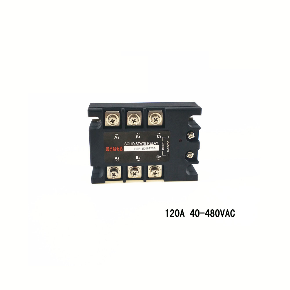 Three-phase AC solid state relay 120A 480VAC non-contact switch normally open SSR-3D48120A ssr mgr 1 d4860 meike er normally open type single phase solid state relay 60a dc ac