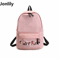 Black Backpack For Women Waterproof Nylon Small Backbag Rucksack Girls School Book Shoulder Bag Mochila LI-370
