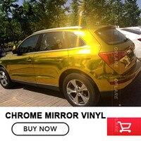 5x65FT זהב Chrome Mirror מדבקות דבק גיליון מדבקת סרט לעטוף ויניל Chrome mirror רכב יניל Sitcker משלוח חינם