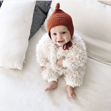 2016 Infant Baby Girls Fleece Rompers Toddler Princess Jumpsuit Babies Autumn Winter Warm Cute Romper Bebe christmas clothing