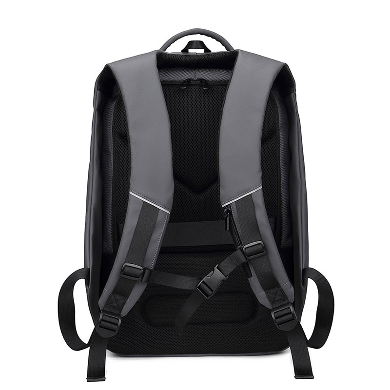Sac à dos pour ordinateur portable pour homme sac à dos multifonctionnel étanche avec Port USB pour voyage en plein air DO2