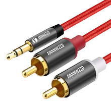 RCA Cable 2RCA to 3.5 Audio 3.5mm Jack AUX 1m 2m 3m for DJ Amplifiers Subwoofer Mixer Home Theater DVD