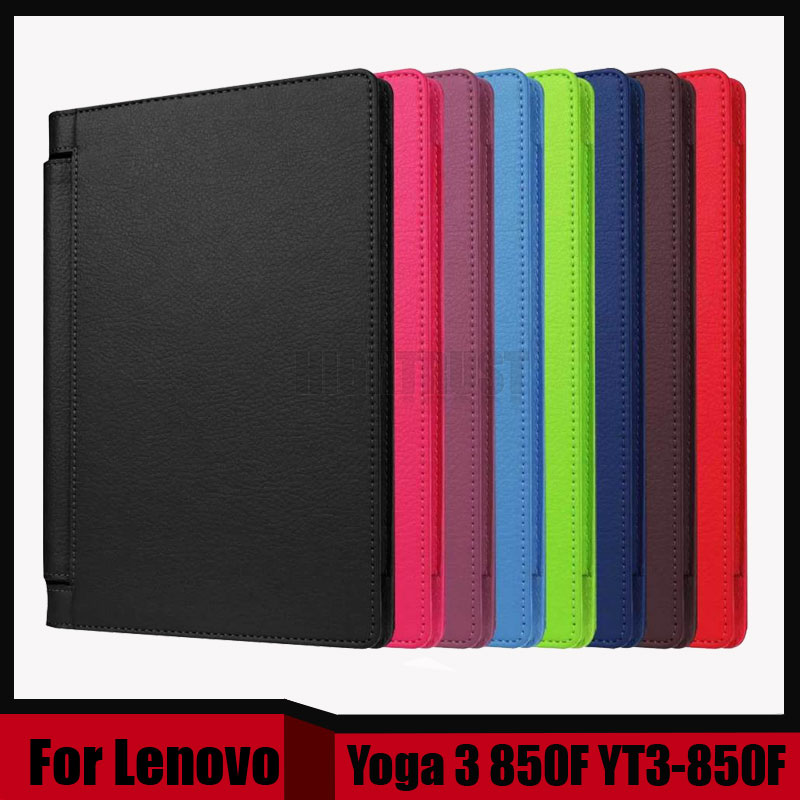 3 in 1 Luxury Litchi Pattern PU Leather Case Cover for lenovo Yoga 3 850F YT3-850F YT3-850M YT3-850L + Screen film + Stylus new luxury fashion pu leather cover case stand cover case for lenovo yoga tab 3 8 850f yt3 850f tablet free film free stylus