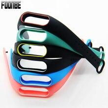 Цвет ful силиконовый ремешок браслет двойной Цвет замена ремешок для Mi band 2 Для Сяо Mi band 2 напульсники