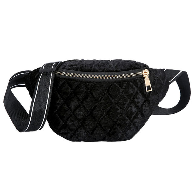 Chest Bag Creative Pockets Gold Velvet Embroidery Thread Small Square Bag Travel Door Portable