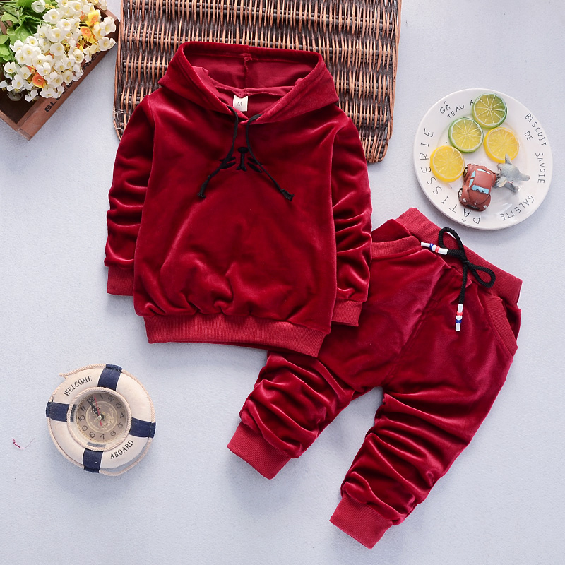 Kids Clothes Autumn Winter Boys Ladies Garments 2pcs Outfits Youngsters Garments Christmas Costume Swimsuit Ladies Velvet Clothes Units Clothes Units, Low-cost Clothes Units, Kids Clothes Autumn Winter Boys Ladies...