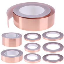30 Meters Single Side Conductive Copper Foil Tape Strip Adhesive EMI Shielding Heat Resist Tape 5mm 6mm 8mm 10mm