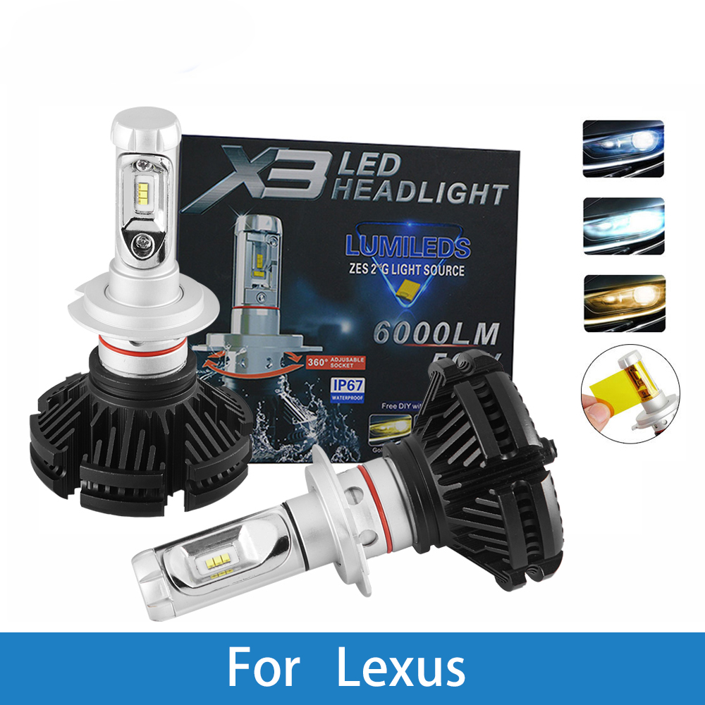 LED Car Headlight Bulb H4 H7 H11 H1 H3 9005 12V 12000LM Auto Lamp For Lexus GS450h GS430 IS250 LS400 GX460 IS250 RX300 LS430 in Car Headlight Bulbs LED from Automobiles Motorcycles