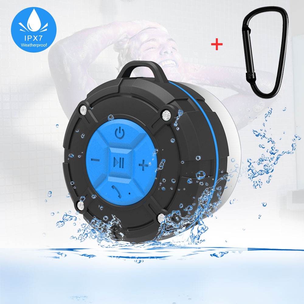Portable Bluetooth Speaker Waterproof Ipx7 Shower Mini Wireless Bluetooth Speakers for Phone PC Bicycle Outdoor With Suction Cup