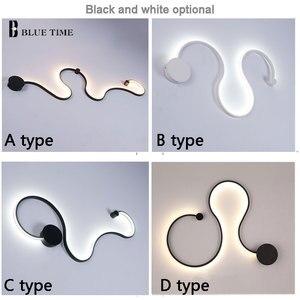 Image 5 - Nowoczesny żyrandol LED salon sypialnia jadalnia nabłyszczania kinkiet Led żyrandol oświetlenie sufitowe oprawy czarny biały