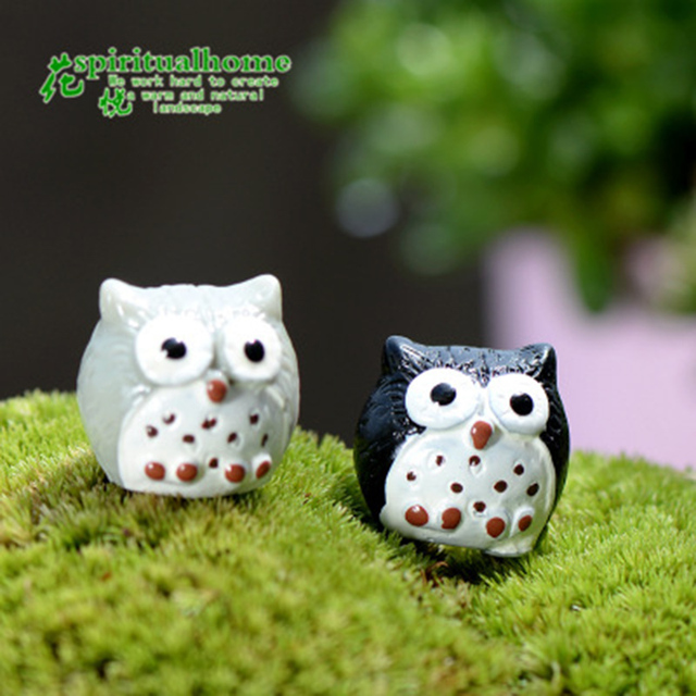 Colorful Night Owl Small Resin Ornament Crafts Statue  4
