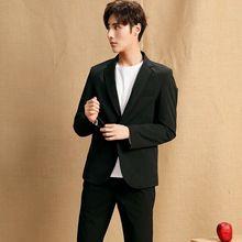 Black Mens Suits Jacket Tuxedos Coat Fashion Business 34-56W Custom Plus size