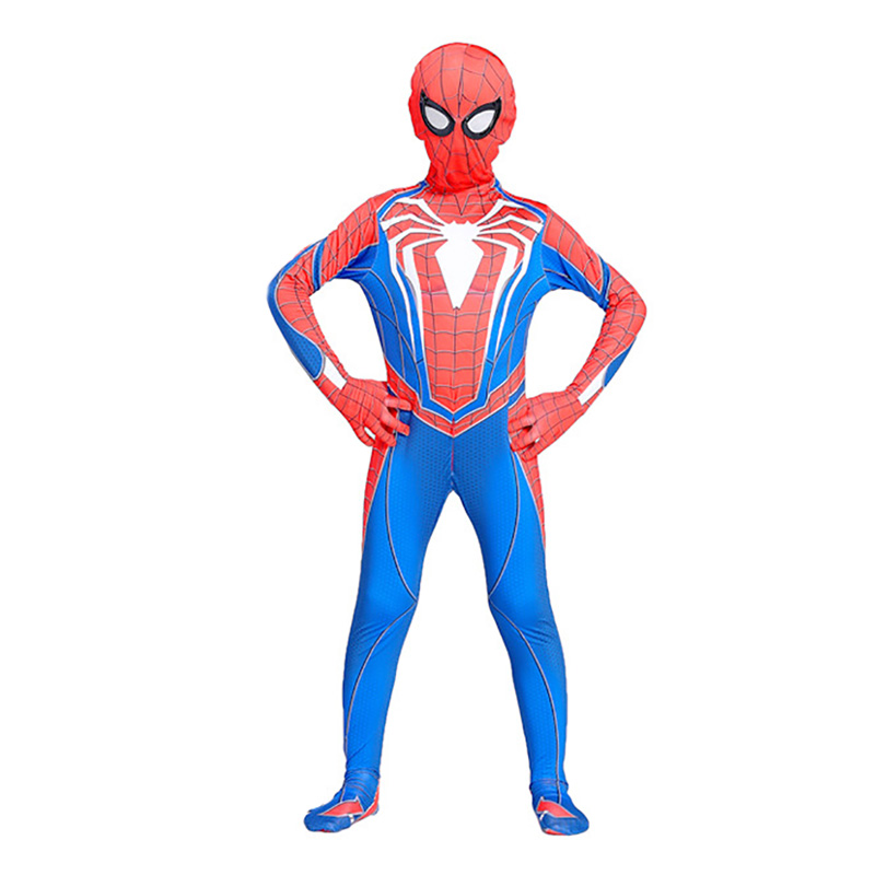 Kids Spider-man Ps4 Game Cosplay Adult Halloween Costume Party Fancy Dress