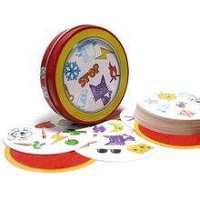 Игральные карточки с символами, 80 мм, английская версия, Обучающие игрушки с металлической коробкой для семейных мероприятий, вечеринок, наслаждайтесь настольными играми