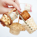 Baby with BJD accessories mini hand woven small bamboo basket rattan basket BJD props