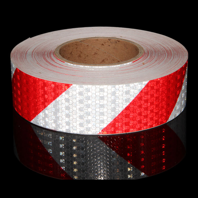 50M Red Yellow Black Car Stickers Reflective Vinyl Stickers For Motorcycles Reflectors Trailer Tank Safety Mark Reflective Tape
