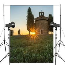 Rising Sun Forest Castle Backdrop Photography Background 150x220cm Giant Wall Mural Studio Props