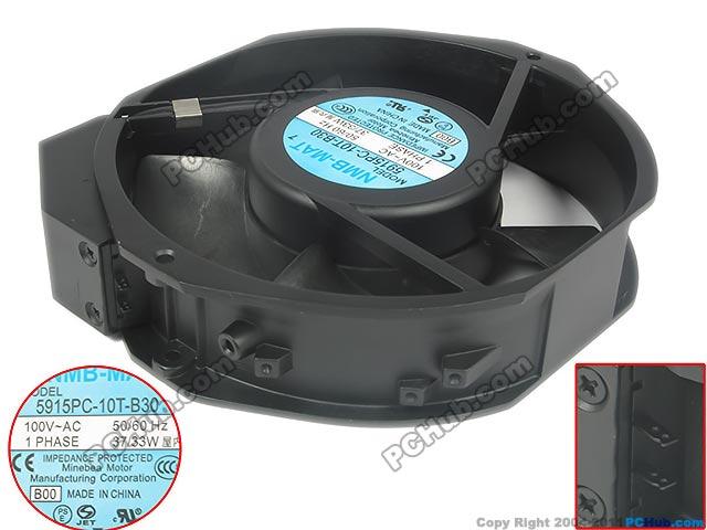 все цены на NMB 5915PC-10T-B30 B00 AC 100V 37/33W 2-pin connector Server Round Cooling fan онлайн