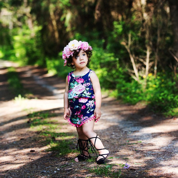 3 Styles Newborn Babies Girls Summer Floral Bodysuits Baby Kids Flower Sleeveless Bodysuit Jumpsuit Onesie+Headband Clothes