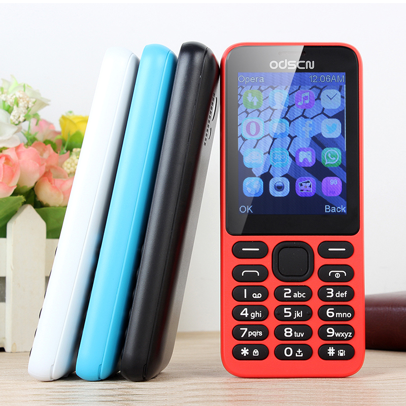 215 2.4 inch WhatsAPP dual card, double key, four band mobile phone-in Cellphones from Cellphones & Telecommunications