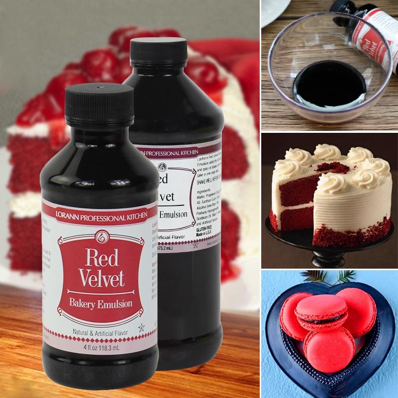 US $17.05 13% OFF|Crimson, Lorann Red Velvet red velvet cake color  flavoring ingredients,food coloring baking cream fondant gel cake  decorating-in ...