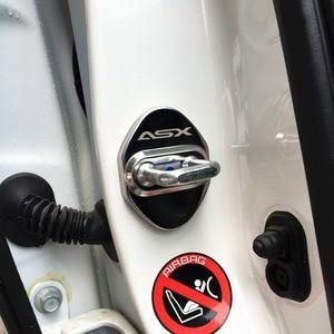 Image 4 - Housse de Protection avec emblème pour serrure de porte, housse de Protection avec emblème pour Mitsubishi asx lancer outlander pajero EVO, accessoires pour salon de voiture