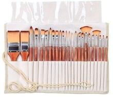2281 24 adet/takım boya resim fırçası seti akrilik suluboya fırçalar sanatsal seti kalem kutusu ile akrilik ve yağlı boya için çizim