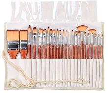 2281 24 sztuk/zestaw pędzelek artystyczny zestaw akrylowy pędzle akwarelowe artystyczny zestaw z piórnikiem do malowania akrylowego i olejnego