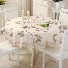 Round Table Cloth Living Room Tablecloth Pastoral Table Mat Cover Waterproof Anti Hot Oil Apply To The Desk and Tea Table
