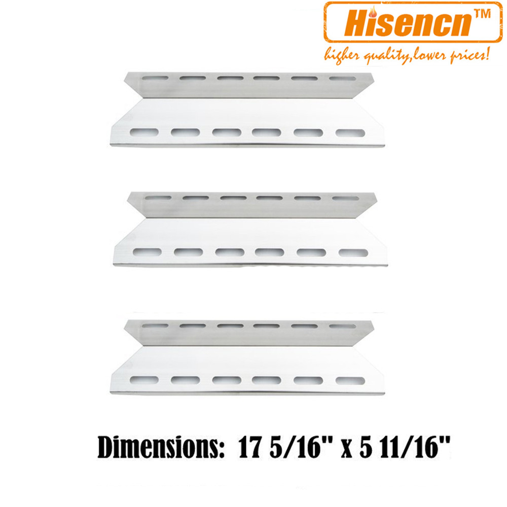 Hisencn 17.3 inch 92341 3pcs Gas Grill SS Heat Plate Replacement for Perfect Glo, Charmglow, Nexgrill, Perfect Flame Model Grill-in Other BBQ Tools from Home & Garden    1