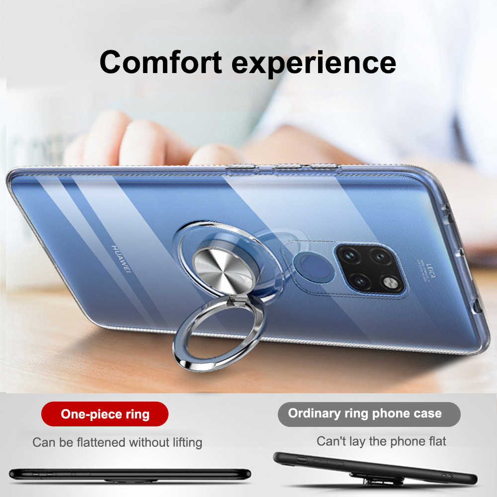 OTAO Magnetic Car Holder Case For Huawei Mate 20 Pro P30 P20 Lite Full Cover Transparent Case For Huawei Nova 4 Honor V20 Coque