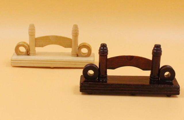 Moderne chinese stijl hand hout zijde papier kant vouwen fan stand