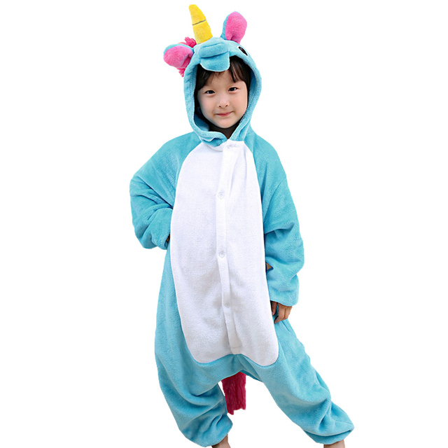 nouvelle hiver flanelle enfants pyjamas licorne costume de no l cosplay licorne b b enfants. Black Bedroom Furniture Sets. Home Design Ideas