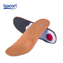 BOCAN genuine leather insoles for shoes arch support orthopedic insoles breathable for men and women