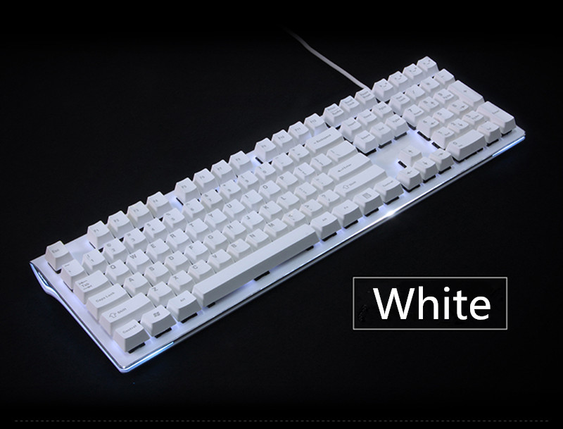 Black white Cherry MX Keycaps 108 PBT Keycap OEM Profile For MX Switches Mechanical Keyboard Gaming Keyboard pbt keycap oem height poker 2 mechanical keyboard cherry mx switch keycaps kbt poker ii keycap multicolor keycap