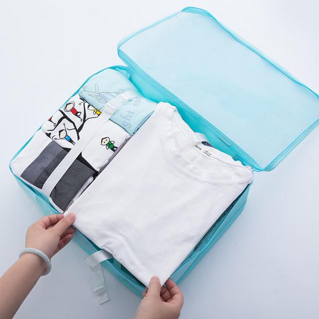 Reusable Waterproof Packing Cubes Set