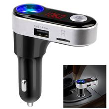 Car Bluetooth FM Transmitter Hands Free Bluetooth Car Kit MP3 Audio Player Wireless with Dual USB Charger for Mobile Phone New