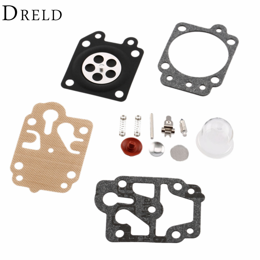 Carburetor Carb Repair Kits Brush Cutter Grass Trimmer Carburetor Repair Gasket For Walbro Carburetors 40-5/44F-5 34F 36F 139F 3set brush cutter carburetor gasket kit and primer bulb needle 40 5 44f 5 34f 36f 139f gx35 grass trimmer carburetor repair kit