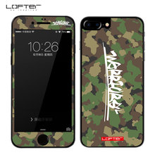 2pcs Front Back Camouflage Marble 9H Full Screen Protector for iPhone 7 Tempered Glass Film for