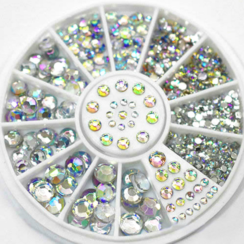 Flatback Strass Nail-Art-Stone Sewing-Fabric Glitter Rhinestones Crystal Garment 1-Box