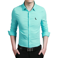 DUDALINA Embroidery Reserva Camisa Business Formal Fashion Brand Men Shirt Male Men S Casual Long Sleeve
