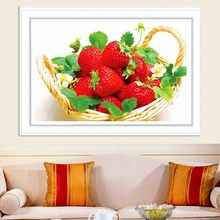 5d Diy Diamond Painting Cross Stitch Kits Diamond Embroidery Diamond Mosaic Pattern Kitchen Decoration Strawberry Picture